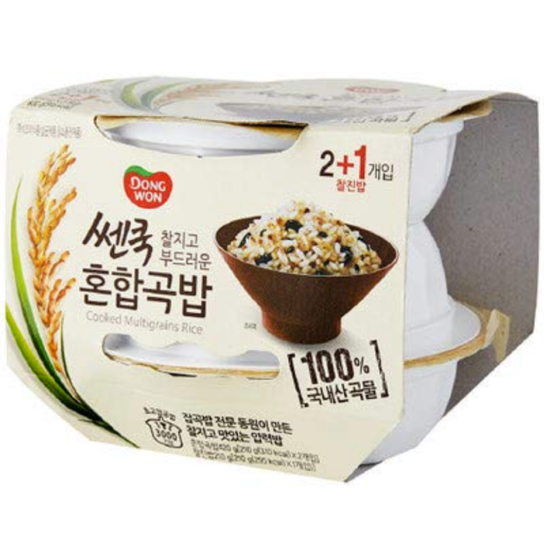 Dongwon Cooked Multigrain Rice 210g (3 Bowls per Order)