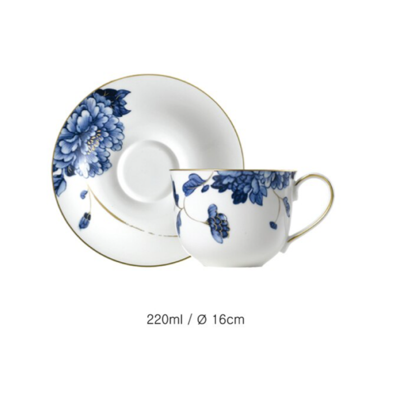 [HANKOOK CHINAWARE] Prouna Emperor Flower Coffee Set for 2