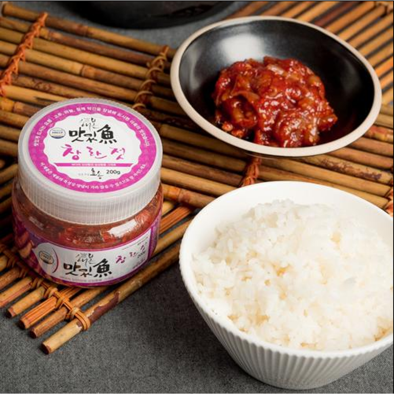 [SEPARATE FREE SHIPPING] Hyosong Salted Seasoned Seafood (Jeotgal) Set 200g Each (6 Types)