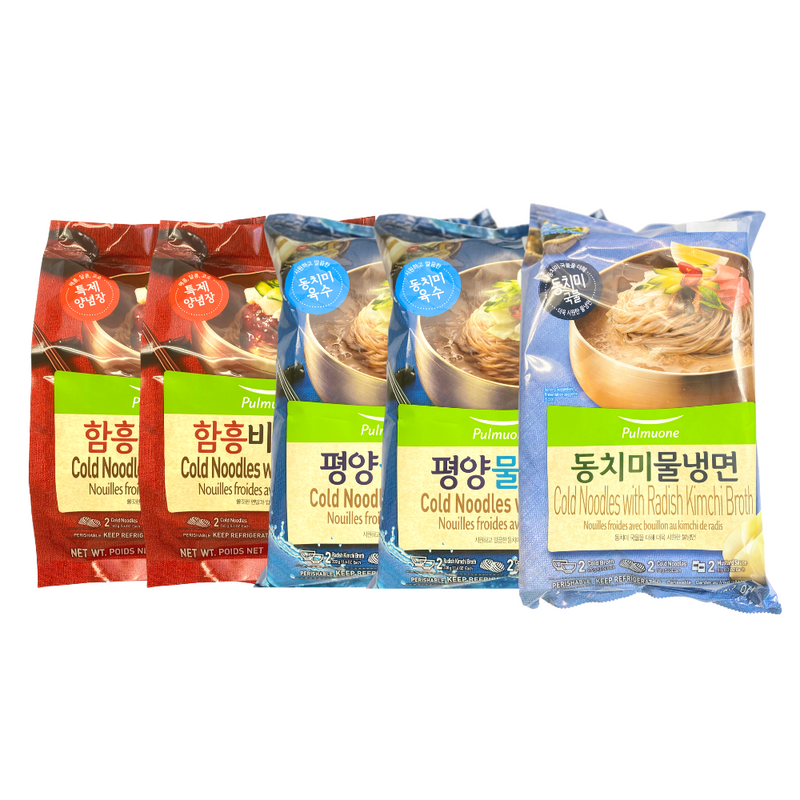 [SEPARATE FREE SHIPPING] Pulmuone Cold Noodle (Naengmyeon) Collection (5 Packs per Order)