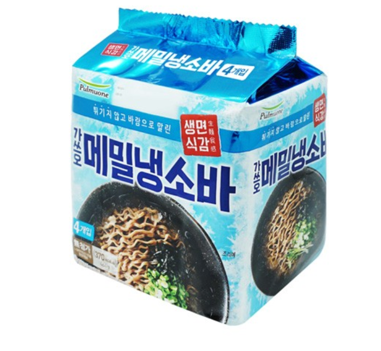 Pulmuone Non-Fried Cold Soba (4 Packs per Order)