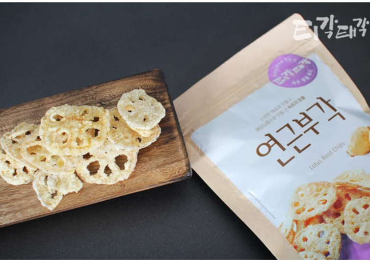 Crispy Lotus Root Chips 60g (2 Bags per Box)