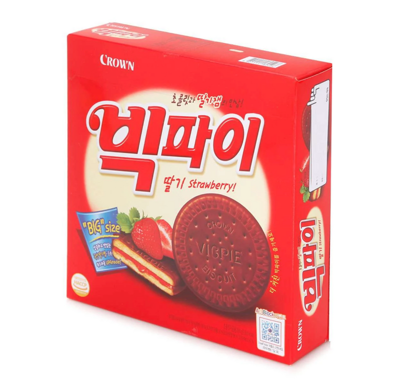 Seoul Mills presents Crown Vic Pie Strawberry (324g).