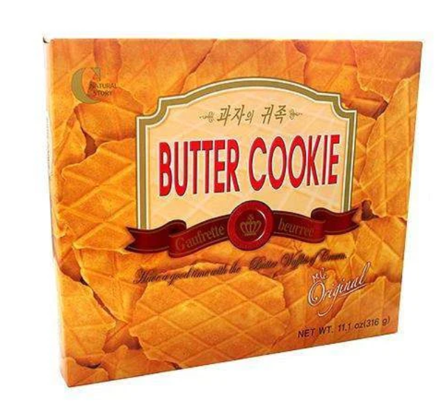 Seoul Mills presents Crown Jumbo Butter Waffle Biscuit 316g.