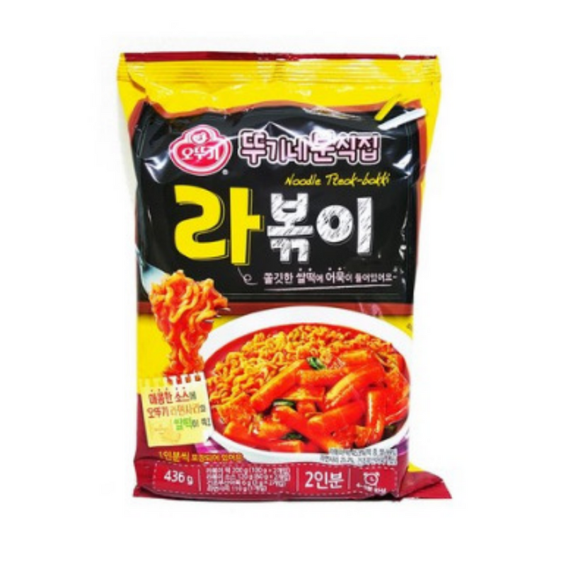 Ottogi Spicy Rice Cake + Ramen Noodles (Rabokki) - 2 Servings