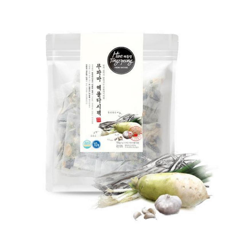 Radish, Green Onion Root, & Garlic with Seafood Dashi Soup Base (15g x 10 Pack)