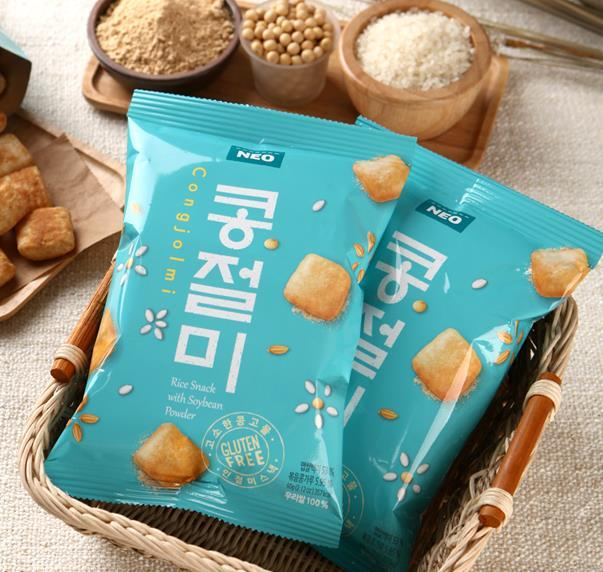 Savor the Korean Original Soybean Rice Snack 60g at Seoul Mills.