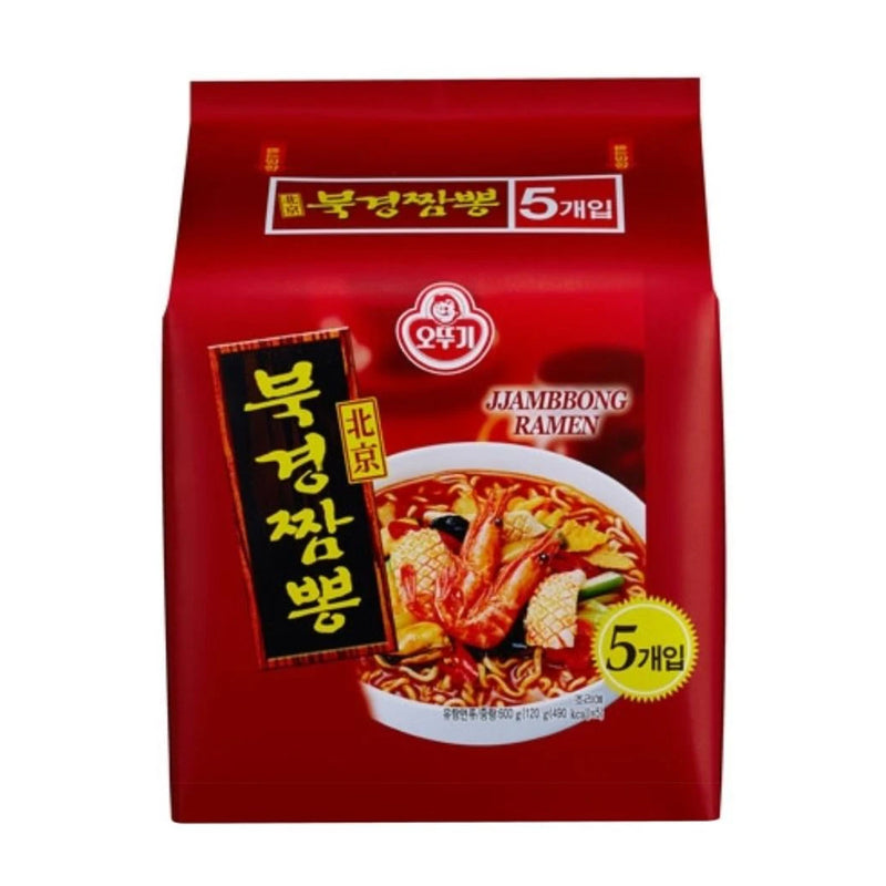 Ottogi Instant Jjambbong Noodles 5 Packs per Box (Limited to 2 Boxes per Order)
