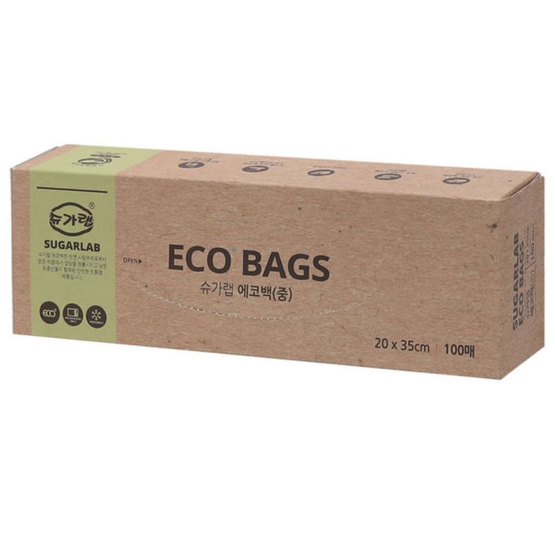 Sugarlab Eco Bag (Medium) 100 sheets (3 Cases per Box)