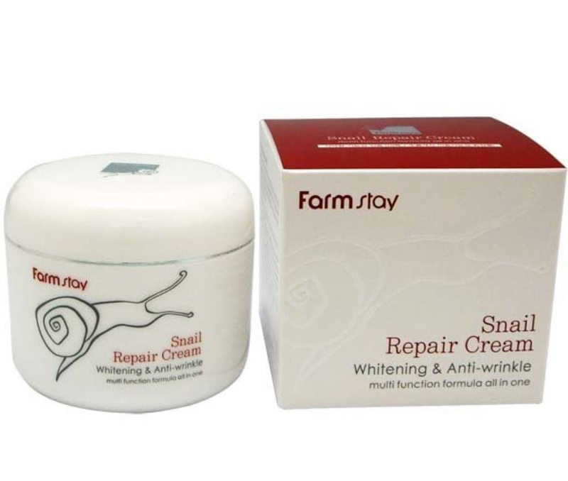 SeoulMills and the Farm Stay snail extract repair cream.