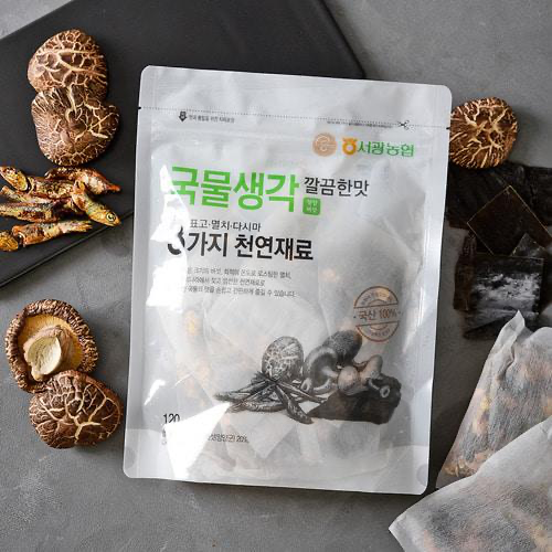 Korean Soup Base Broth Packets - Clean, Light, & Fresh 120g (20gx6 pack)