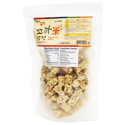 Now offering Korean Fried Rice Cracker with Dried Persimmons and Peanuts 180g at Seoul Mills!