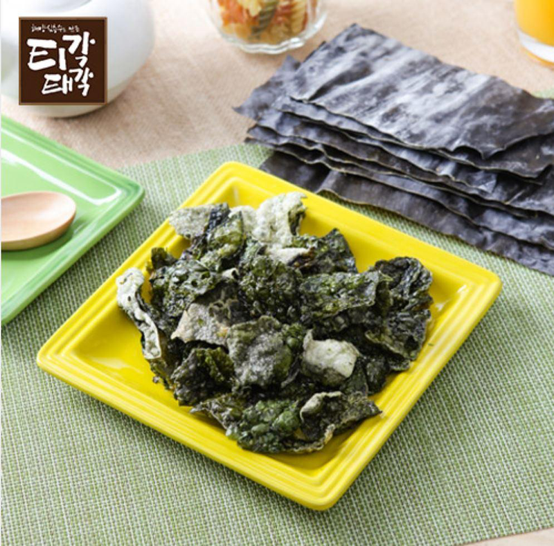 Try the Fried Kelp Chips(Laver Chips) 80g at Seoul Mills.