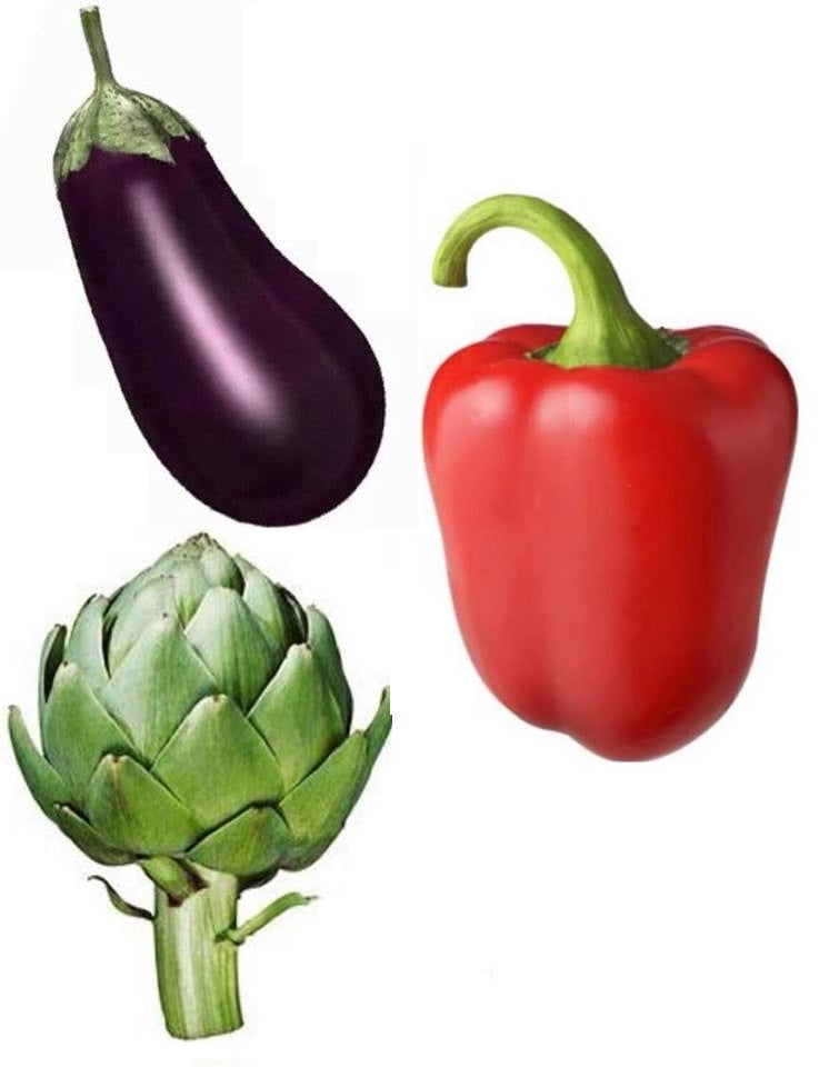 Eggplants, Peppers and Artichokes also known as...