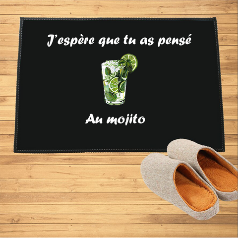 Paillasson J'espère que tu as pensé au Mojito | paillasson.shop - Paillasson.shop