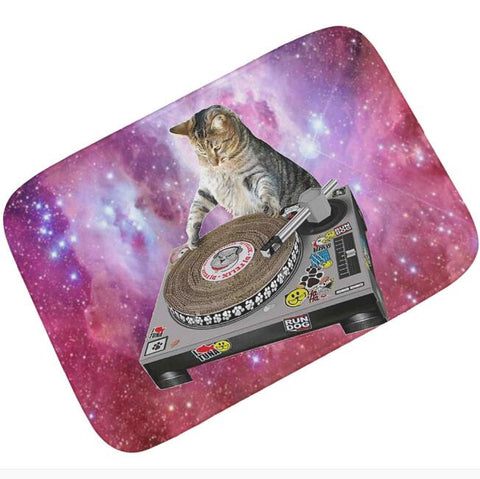 Paillasson humoristique : chat DJ - Paillasson.shop