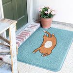 Cat Doormat Welcome Door Mat Area Rugs PVC Cute Entrance Rug Clean Shoes Carpet Anti Dust Floor Mats Nordic Home Decor 75x45cm - Paillasson.shop