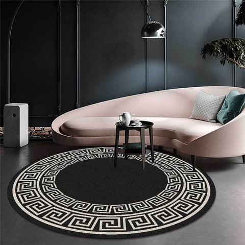 Tapis rond classique Chinois