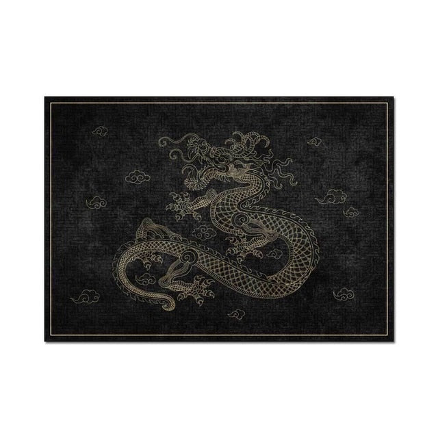 Tapis traditionnel Dragon Chinois - Paillasson.shop