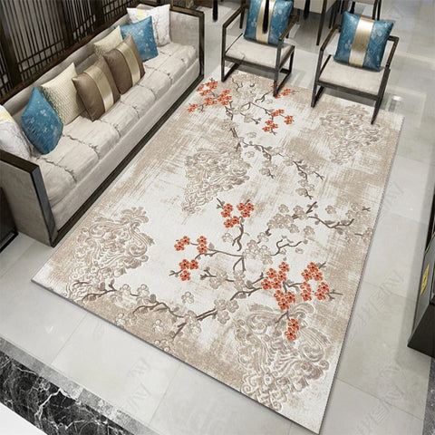 Tapis floral chinois