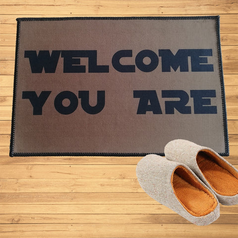 "Paillasson ""Welcome you are"""
