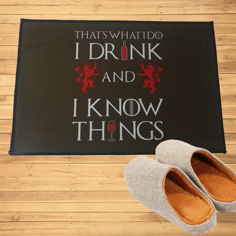 Paillasson Vin Game of Thrones I Drink and I know Things