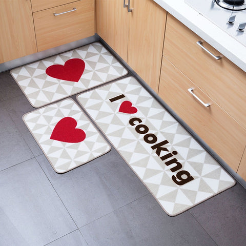 Tapis de cuisine I love cooking