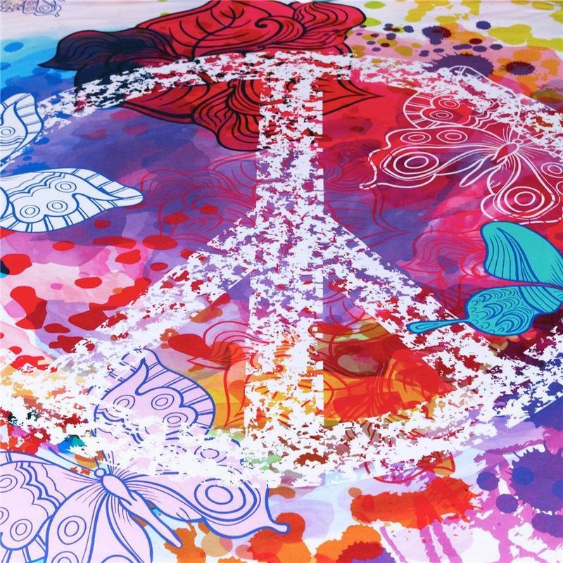 Tapis mural Hippie Peace and Love