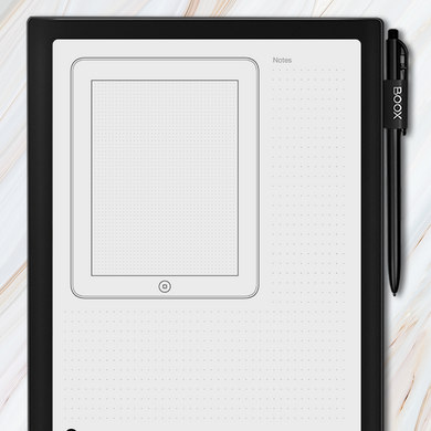 Onyx BOOX - iPad Tablet Wireframe Template