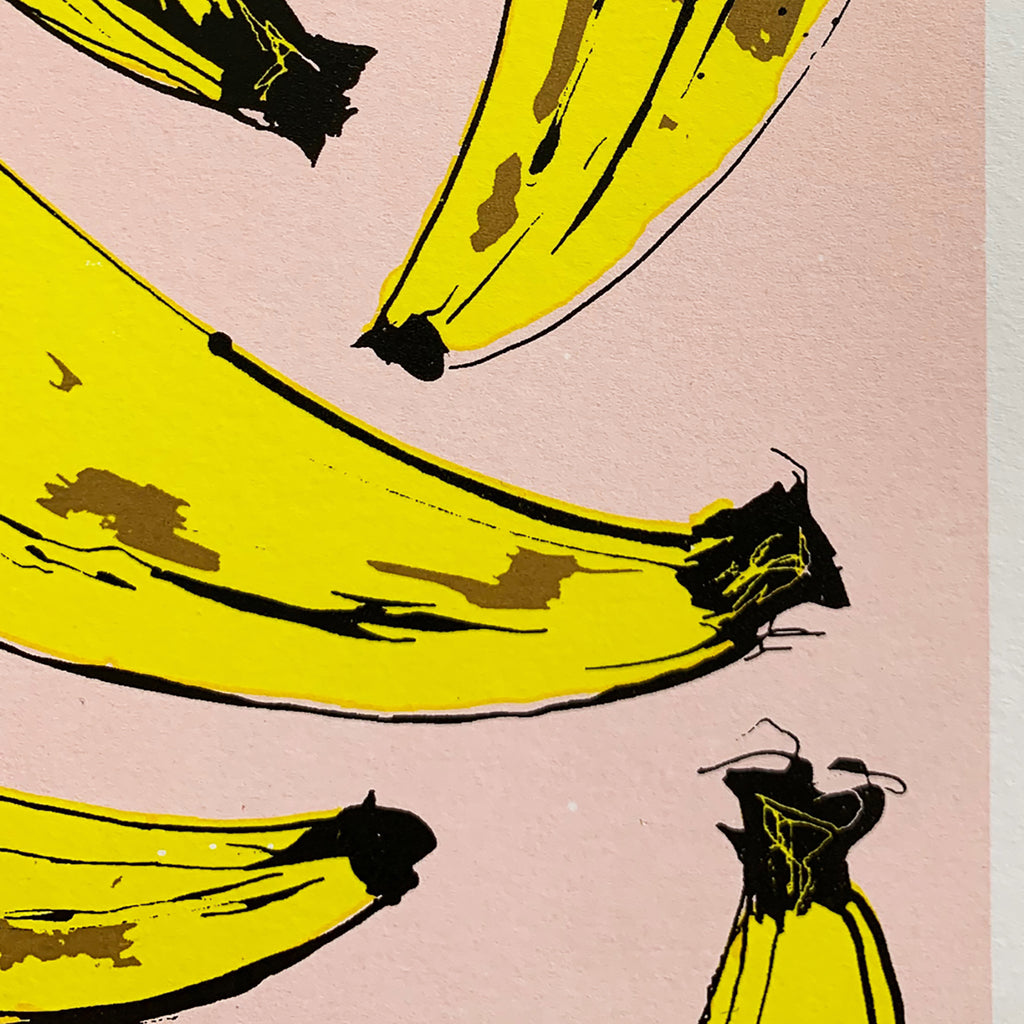 Banana Screen Print, Hannah Carvell