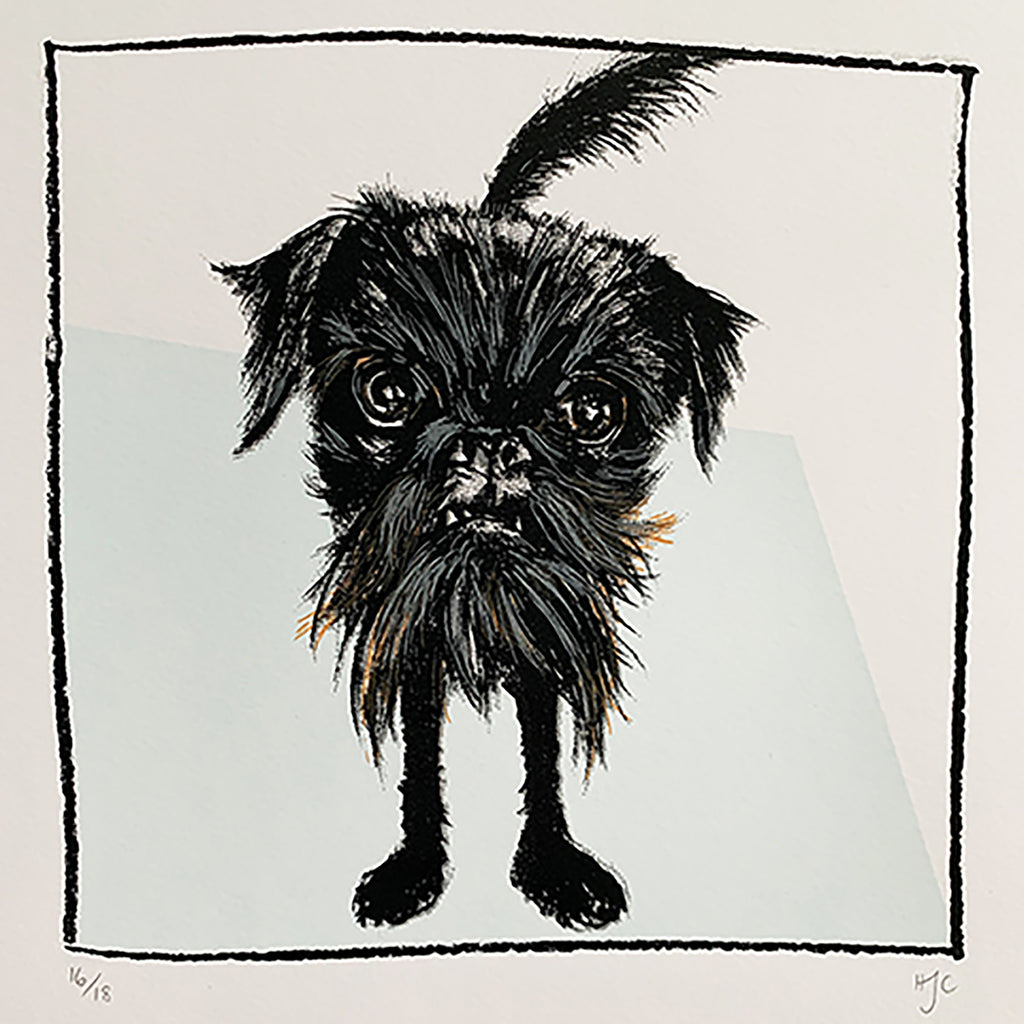 Griffon Dog Screen Print