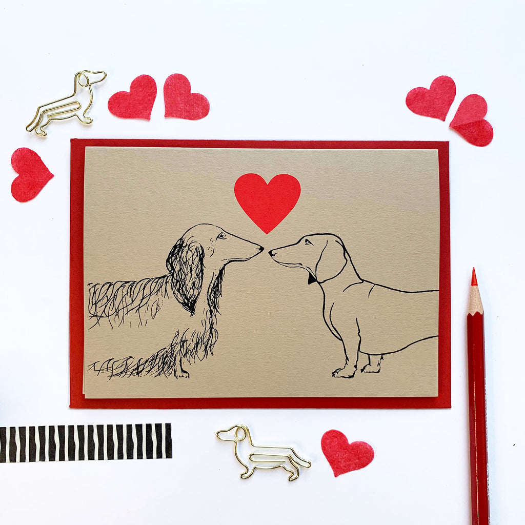 Love is in the Air | Double Dachshund | Stone