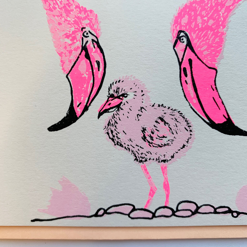 Flamingo Card | Peach