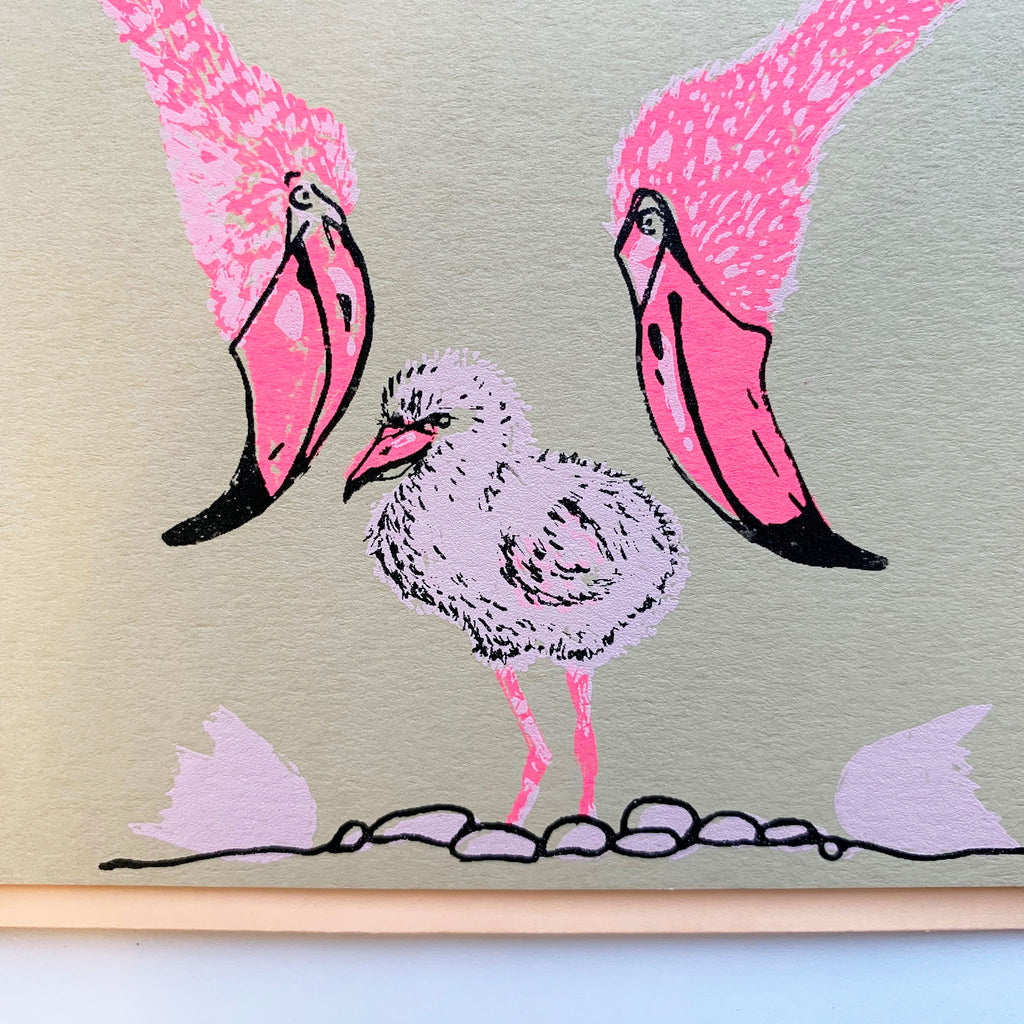Flamingo Card | Natural