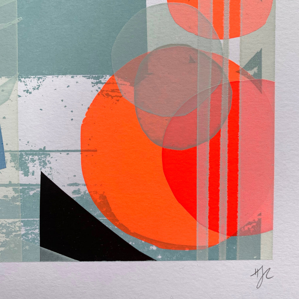 Meva Harbour Abstract Screen Print
