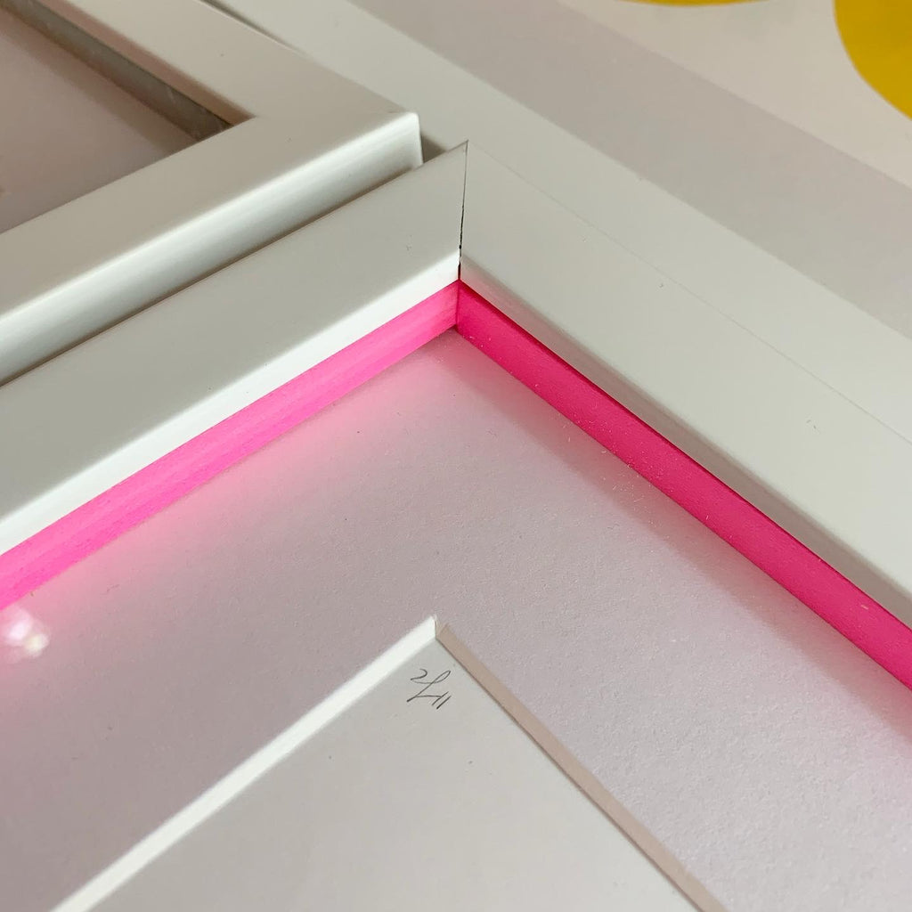 Hannah Carvell, Screen print, Neon Pink, Neon Spacer Frame