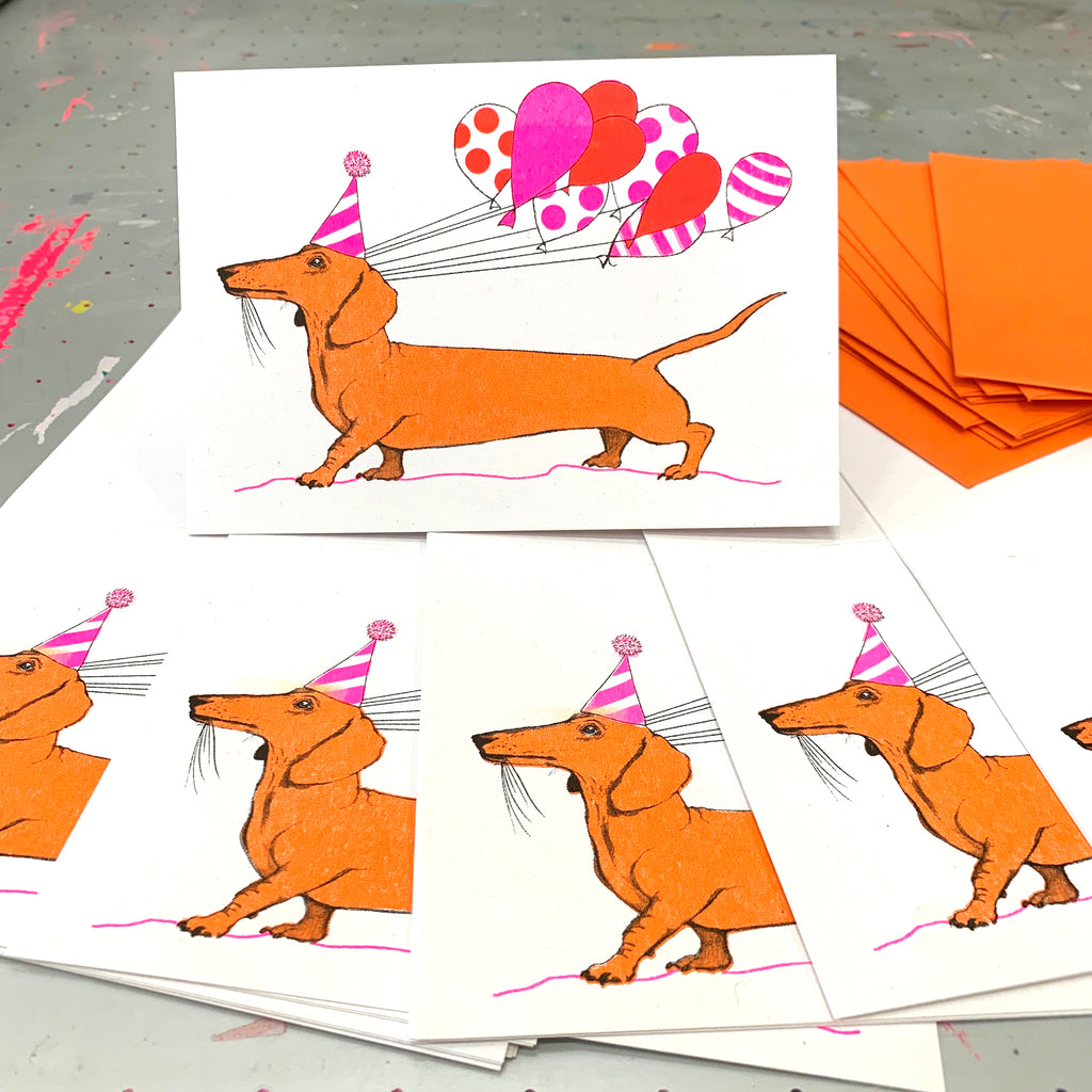 Sausage Dog Greetings Card