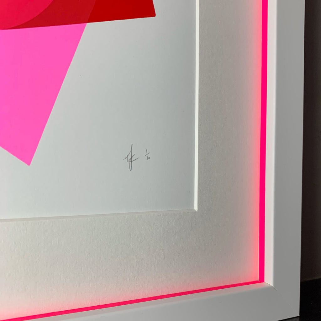 A4 Abstract | Pink & Red