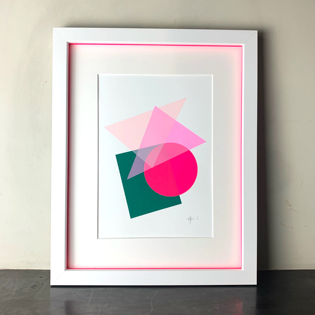 A4 Abstract | Green & Pink
