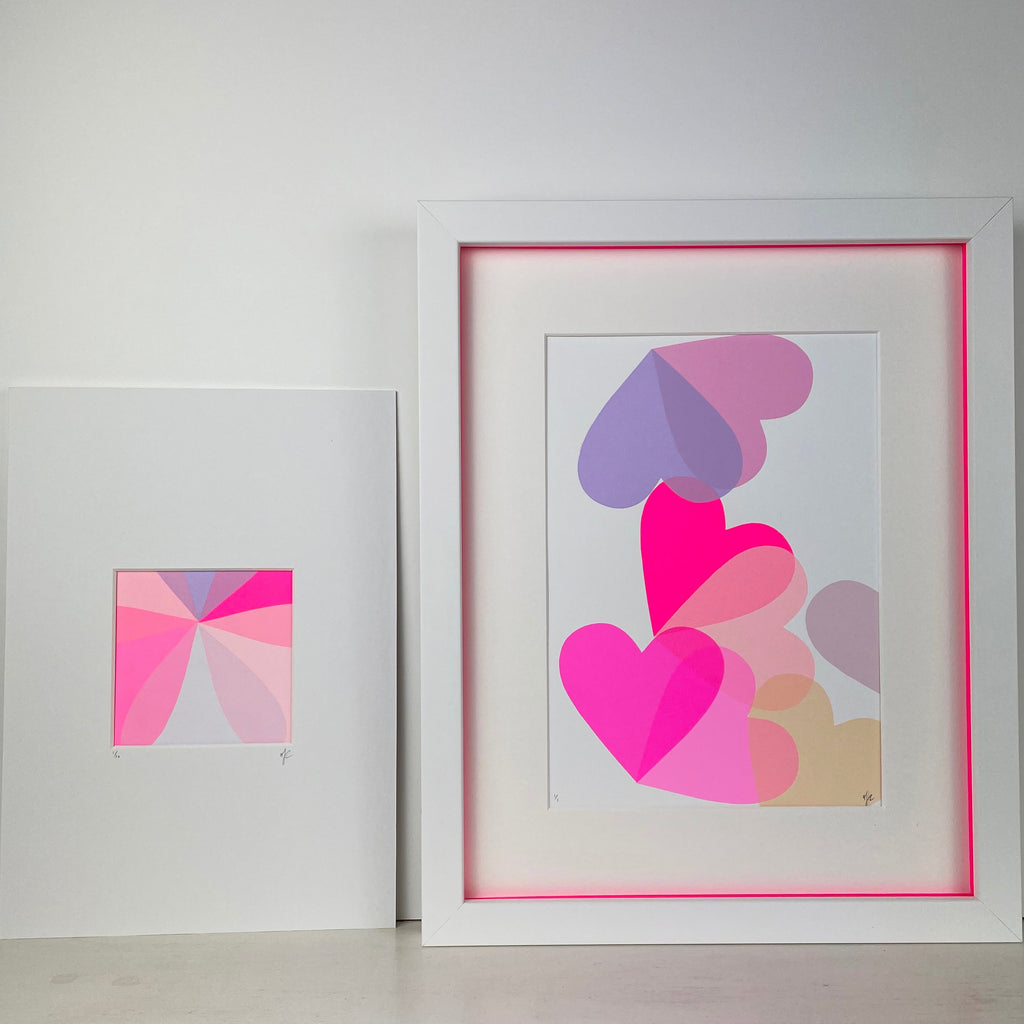 Mounted Mini Abstract | Lilac Pink