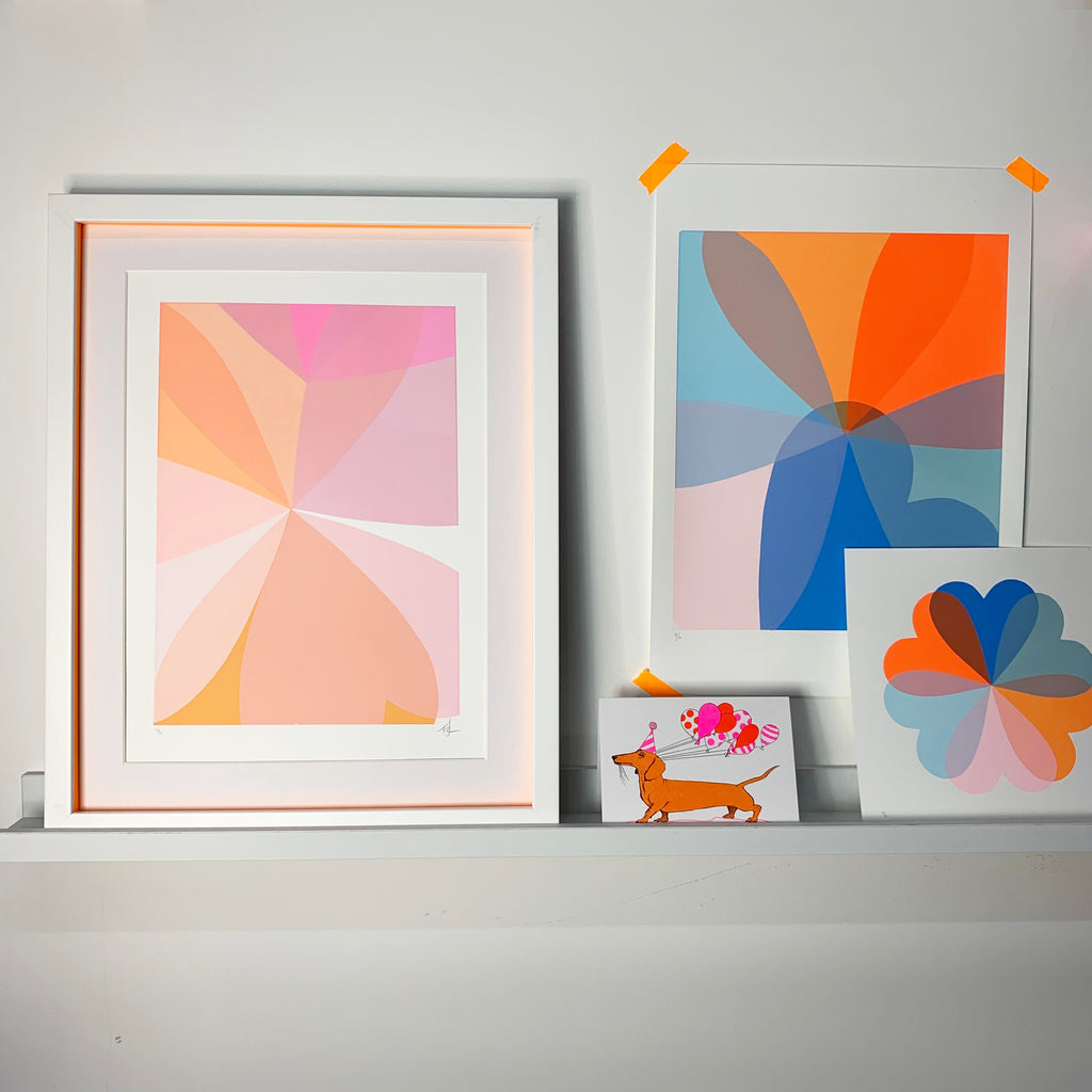 Abstract Hearts | Blue & Orange