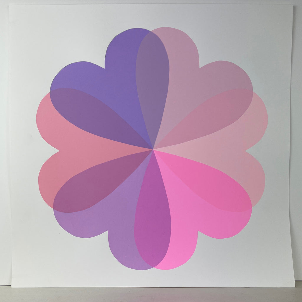 Large Hearts & Flowers | NEW Lilac + Pinks