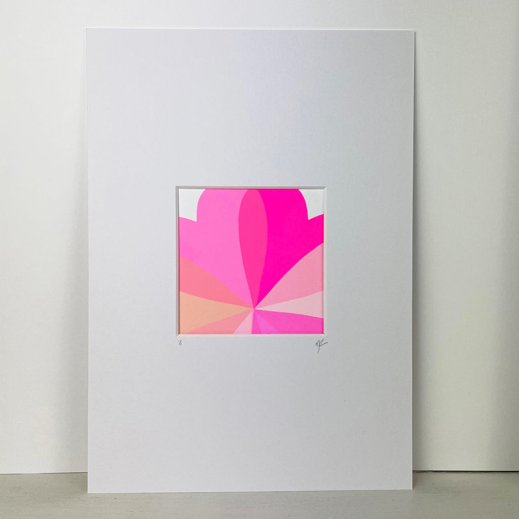 Mounted Mini Abstract | Pink 1/1
