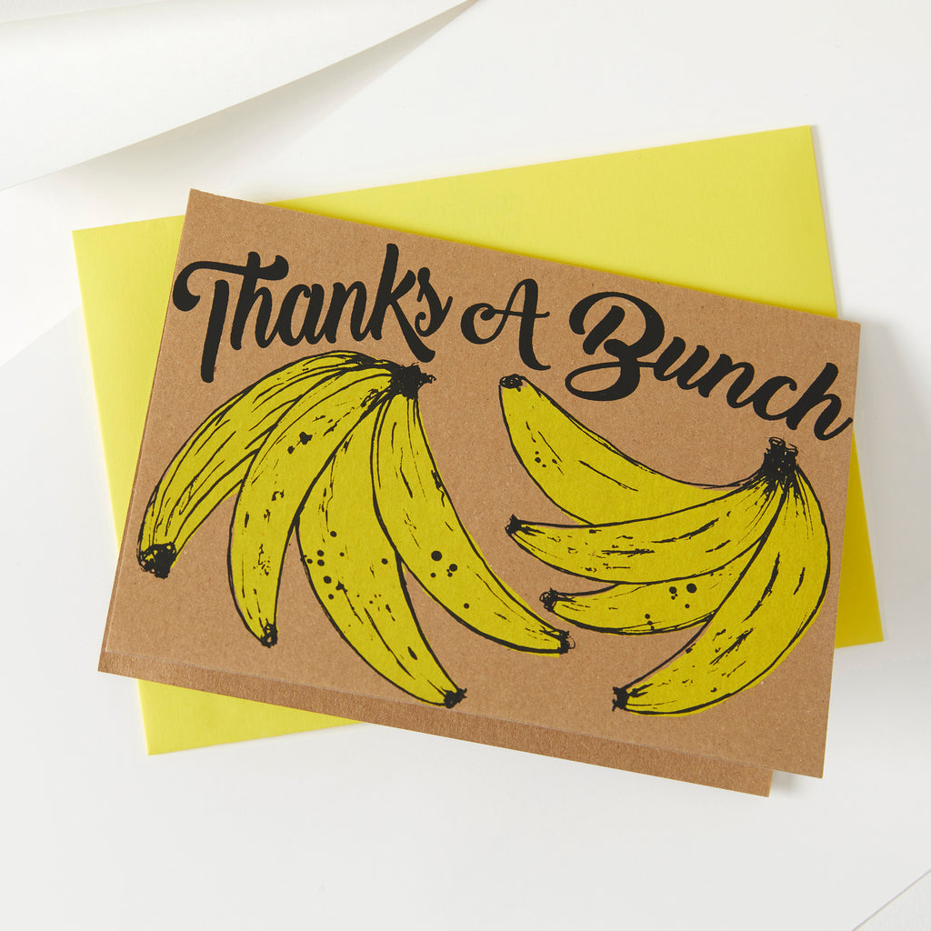 Thanks a Bunch | Banana Card | Naural