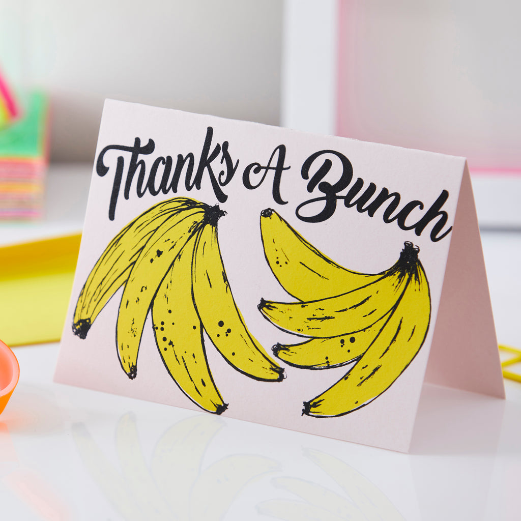 Thanks A Bunch | Banana Card | Pink
