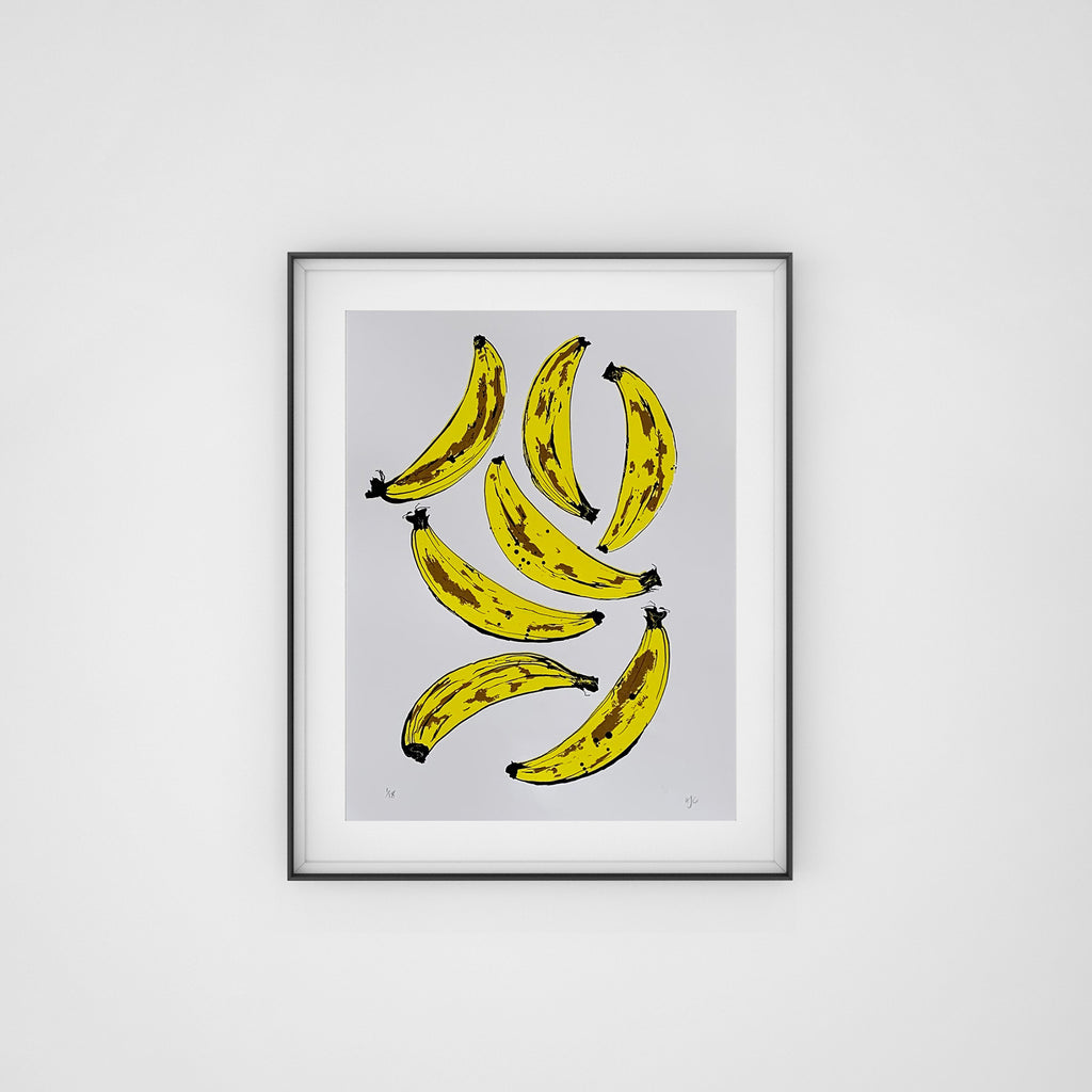 Banana Screen Print | White