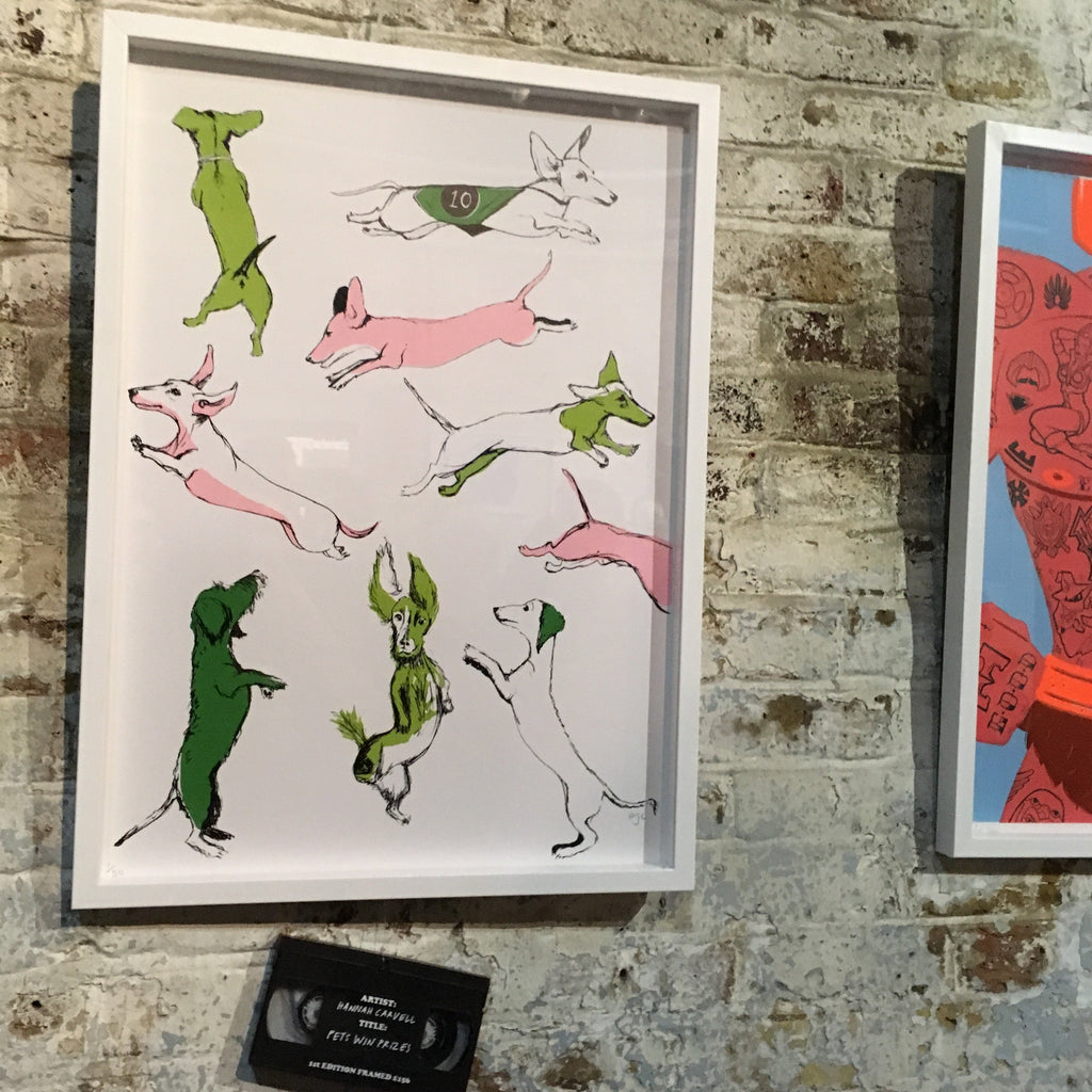 Print Club London Blisters, Dachshunds, Hannah Carvell