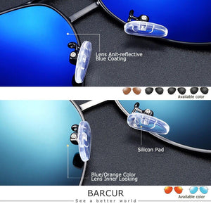 Barcur Sunglasses in Aluminum Magnesium  - Blue