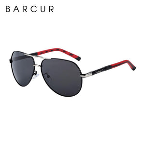 Barcur Sunglasses in Aluminum Magnesium  - Silver Orange