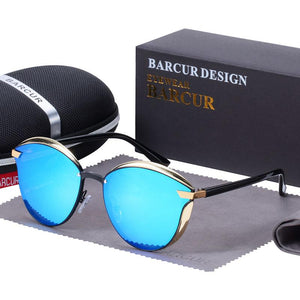 Barcur Polarized Luxury Women Sunglasses - Blue